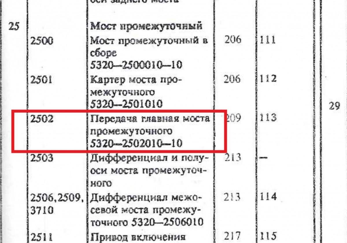 Каталожный номер редуктора КАМАЗ